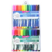 Tulip Fabric Markers Fine and Brush Tip, 25pk, Assorted