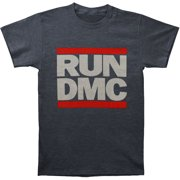 Run DMC Men's  Classic Logo Slim Fit T-shirt Grey