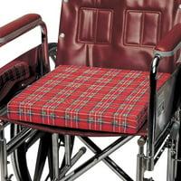 PCP Foam Wheelchair Cushion, Plaid Cover,