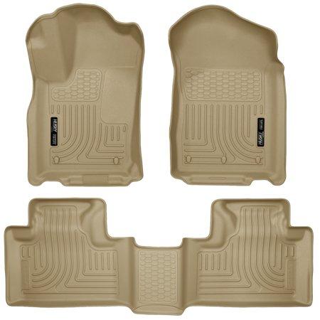 Grand Cherokee Front Floor (Husky Liners Front & 2nd Seat Floor Liners Fits 11-15 Durango/ Grand)