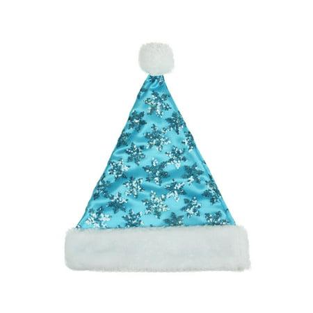 Blue And White Santa Hats (14