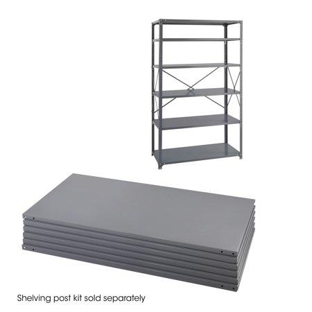 Safco 6255 Steel Shelving 48 x 24 Industrial 6 Shelf