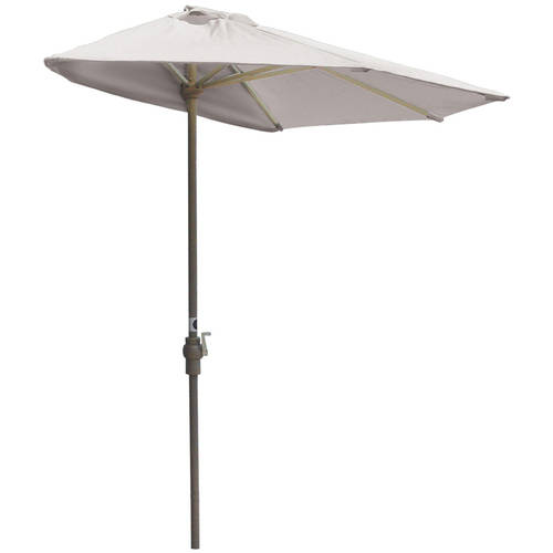 Blue Star Off-The-Wall Brella 9' Half-Umbrella with Olefi...