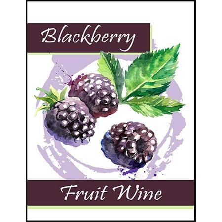 - Blackberry Fruit Wine Bottle Labels