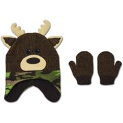 Baby Toddler Boy Novelty Critter Hat and Mitten Accessory Set