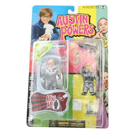Qiyun Austin Powers McFarlane Toys 1999 Moon Mission Mini Me Action Figure - Austin Powers Necklace