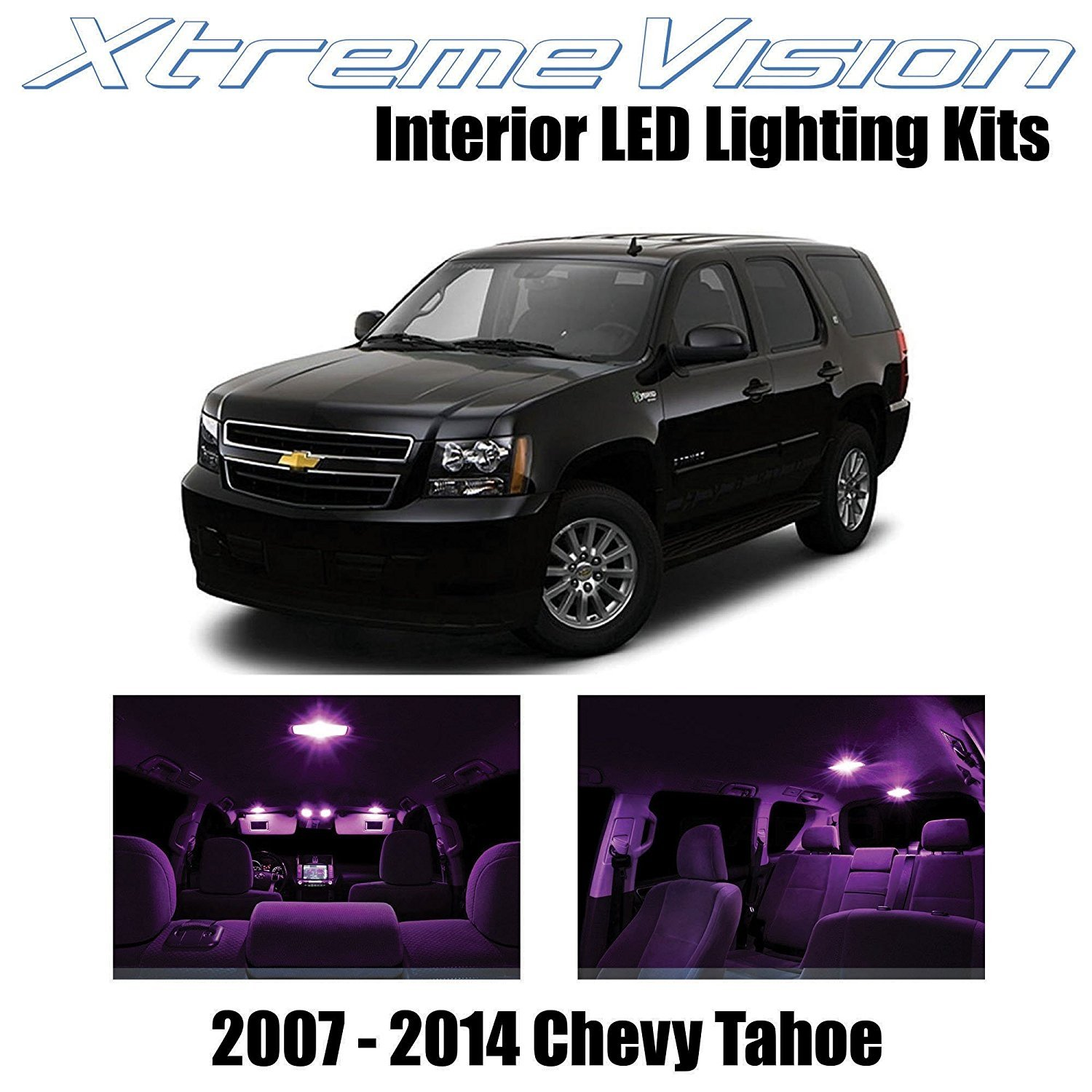 XtremeVision LED for Chevy Tahoe 2007-2014 (12 Pieces) Red Premium Interior LED Kit Package + Installation Tool