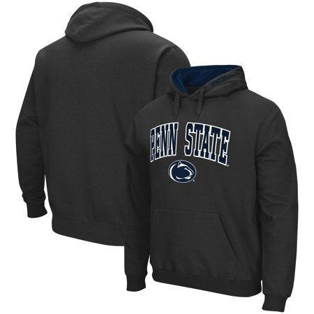 Penn State Nittany Lions Colosseum Arch & Logo Tackle Twill Pullover Hoodie - Charcoal - Penn Mens Sweatshirt