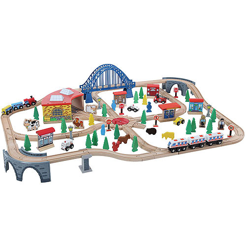 Train Set, 120 Pieces by BedBug