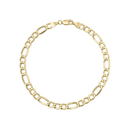 Yellow Gold Celtic Bracelets (10K Yellow Gold Figaro Chain-Style Bracelet,)