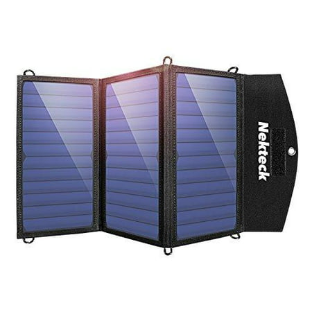nekteck 20w solar charger with 2-port usb charger build with high efficiency solar panel cell for all usb