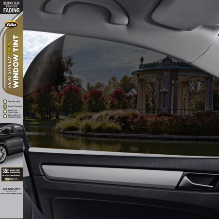 Gila® Heat Shield Plus 35% VLT Automotive Window Tint DIY Extra Heat Control Glare Control 2ft x 6.5ft (24in x