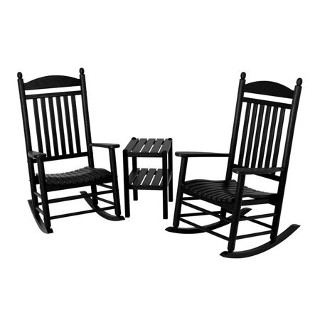 Jefferson Set - POLYWOOD® Jefferson 3 pc. Recycled Plastic Rocker Set with Side Table