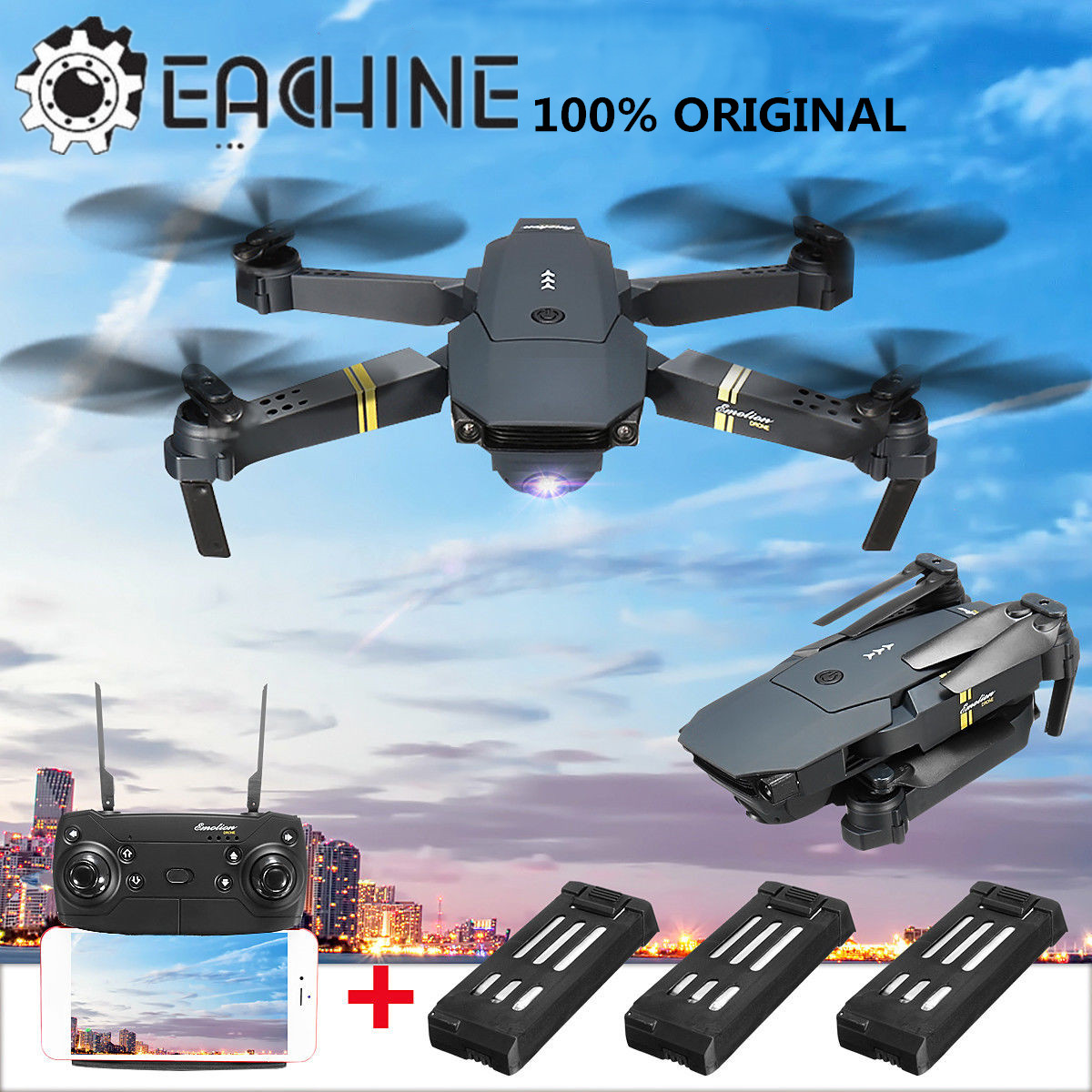 Eachine E58 WIFI FPV 4K HD Camera 2.4G 4CH 6 Axis RC Drone Quadcopter Helicopter