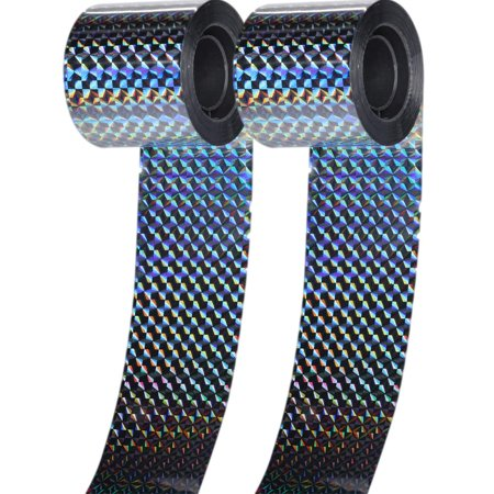 2 Pcs (300 Feet) Bird Deterrent Reflective Scare Tape, Predator Control Birds Repellent Double Sided Flash Tape/Mylar Streamers Ribbon for Pigeons, Geese, Duck, Hawk, Heron