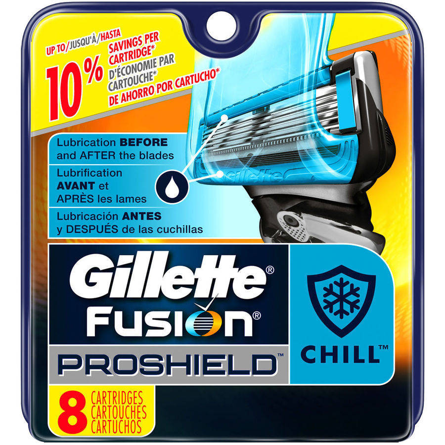 Gillette Fusion ProShield Chill Men's Razor Blade Refills, 8 count