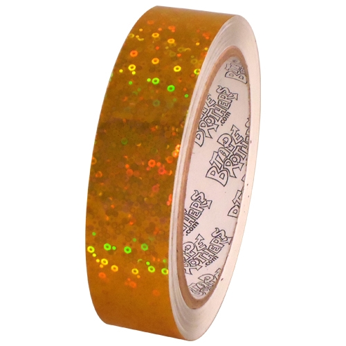 Tape Planet Yellow Sparkle Bubbles 1 inch x 10 yards Metalized Polyester Tape