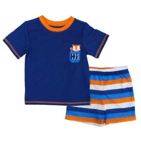 Joe Boxer Infant & Toddler Boys Tiger Cub Pajamas T-Shirt & Shorts Set - Infant Halloween Costumes Boxer