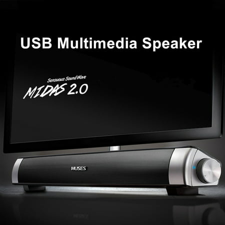 MIDAS-2.0 USB Power Multimedia HiFi Audio Sound Bar Soundbar Speaker For Smart Phone Computer Desktop PC Laptop TV with AUX