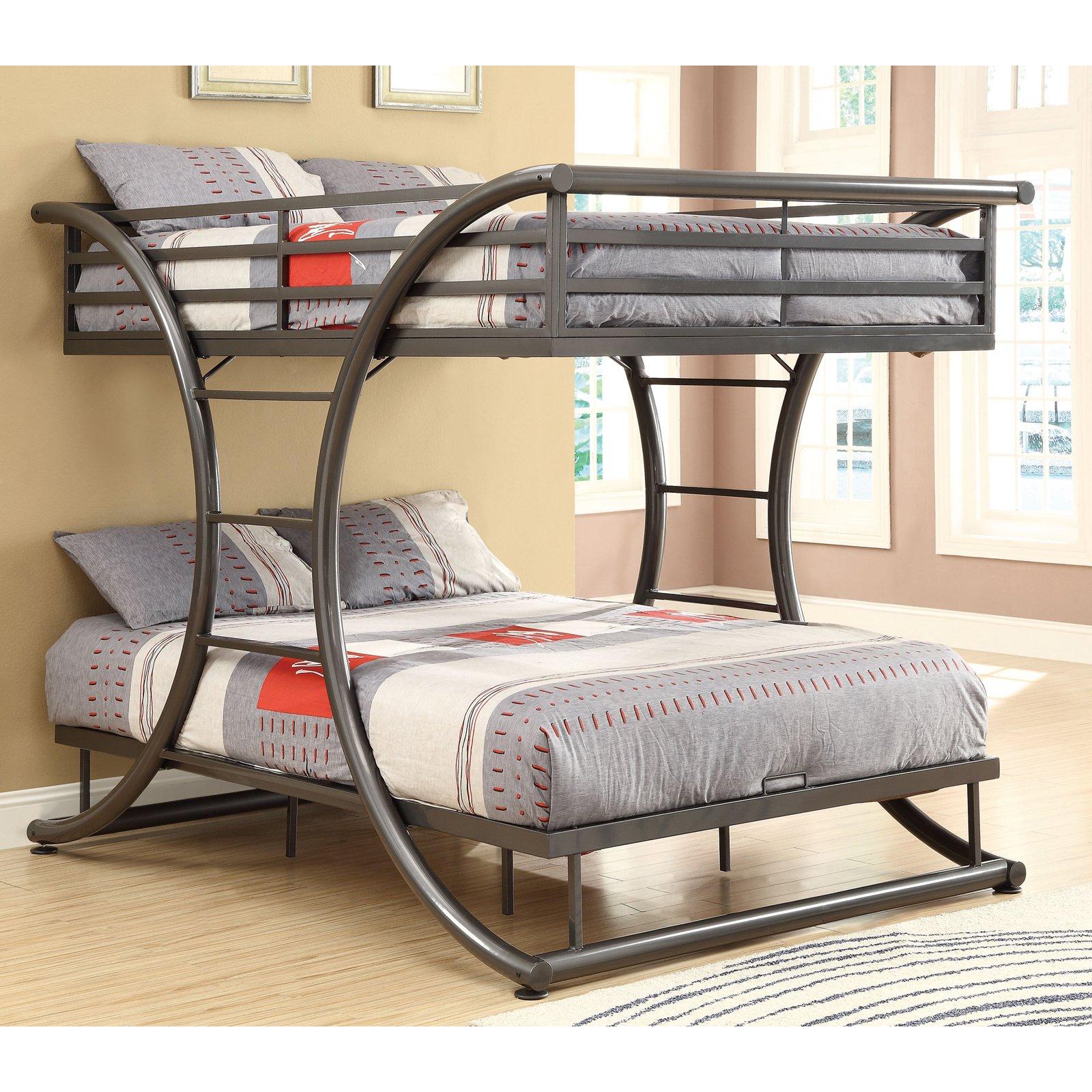 Coaster Furniture Full over Full Contemporary Bunk Bed - Dark Gun Metal
