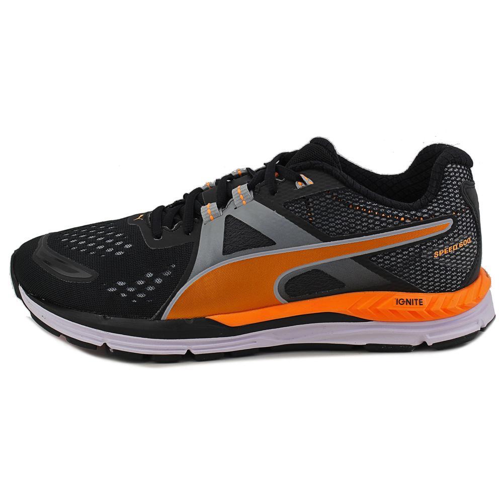 Puma Men's Speed 600 Ignite M Black/Quarry/Orange Pop Ankle-High Running Shoe - 13M
