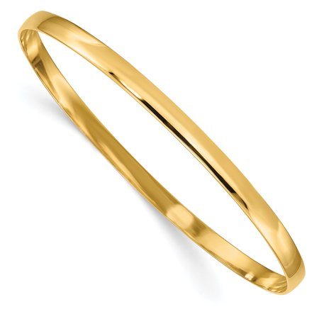 14kt Yellow Gold 4mm Solid Half Round Slip On Bangle Bracelet Cuff Expandable Stackable Fine Jewelry Ideal Gifts For Women Gift Set From Heart