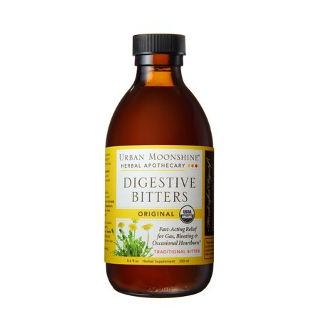 Urban Moonshine Digestive Bitters Original 8.4 fl oz - 200 Servings - Relief for Gas, Bloating, & Occasional Heartburn