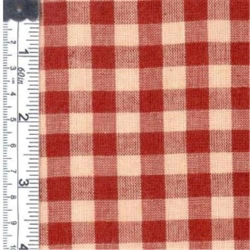 Textile Creations 141 Rustic Woven Fabric, 0.37 Check Red, 15 yd.