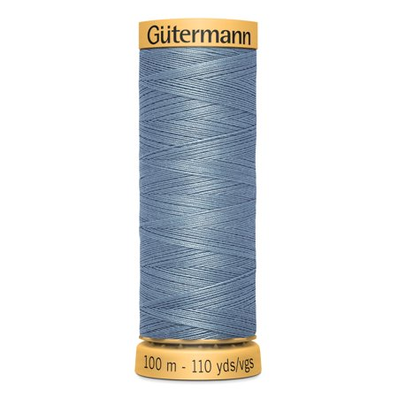 Gutermann Mercerized Cotton Medium Slate Blue Thread, 110 Yd.