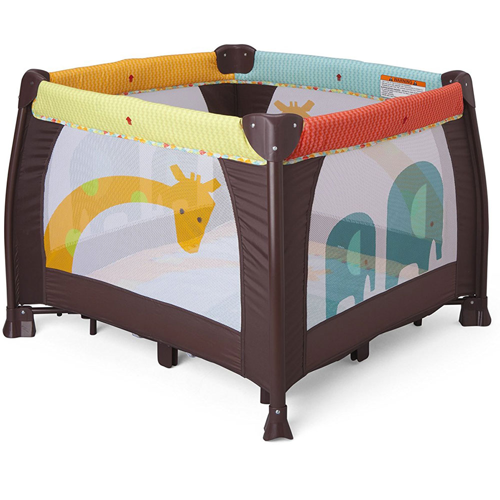 "Delta Children 36"" x 36"" Portable Playard, Novel Idea"