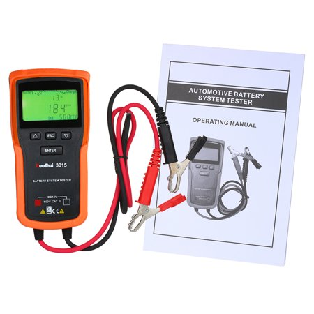 Lead Acid Battery Tester - RuoShui 12V Car Battery Tester Analyzer Battery System Tester Acid CCA Load Battery Charge Test Digital Automotive Power Diagnostic Tool