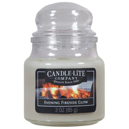 Candle lite 3827251 3 oz Evening Fireside Glow Jar Candle , Pack of 6