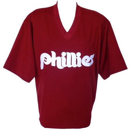 Philadelphia Phillies Majestic Cooperstown Collection Maroon Jersey Size 2Xl