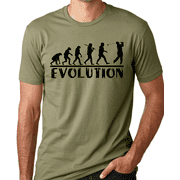 Think Out Loud Apparel Golf Evolution Funny T-shirt Golfer Humor Tee Shirt