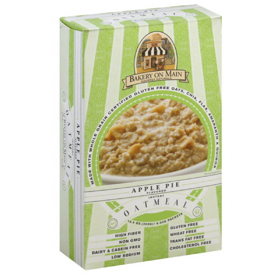 Bakery On Main Apple Pie Flavored Instant Oatmeal, 10.5 oz, (Pack of 6)