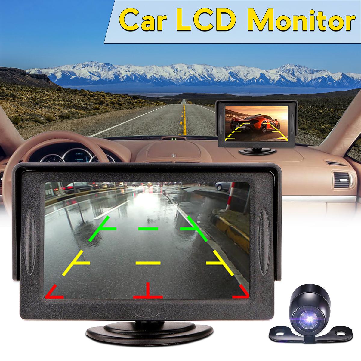 """4.3"""" TFT LCD Car Rear View Monitor + Night Vision Backup Reverse Camera Kit Set"""