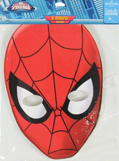 Pleasant Hallmark Party Spider Man Masks Evergreenethics Interior Chair Design Evergreenethicsorg