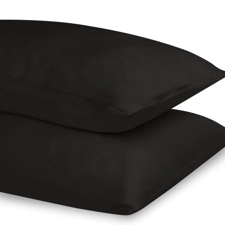 Kimspun 100 Silk Pillowcase With Hidden Zipper King Black