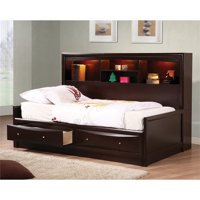 Bowery Hill Twin Bookcase Daybed in Cappuccino