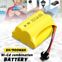 1 or 2Pcs Ni-Cd Nickel-cadmium Battery AA 6V 900mAh SM2P/JST-SYP Plug Rechargeable Battery Safety Suitable For Solar Light Remote Car Toy