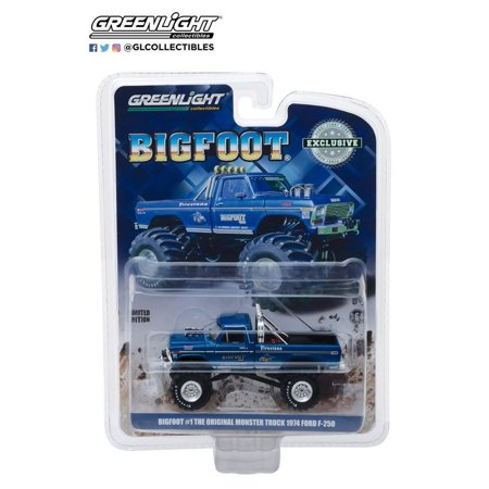 Ford F450 F550 Truck (1974 Ford F-250 Monster Truck Bigfoot #1 Blue
