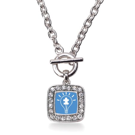 Light Bulb Autism Awareness Classic Charm Toggle Necklace