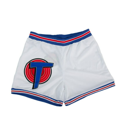 Space Jam Tune Squad White Basketball Shorts (Adult - Jam On Walnut Halloween