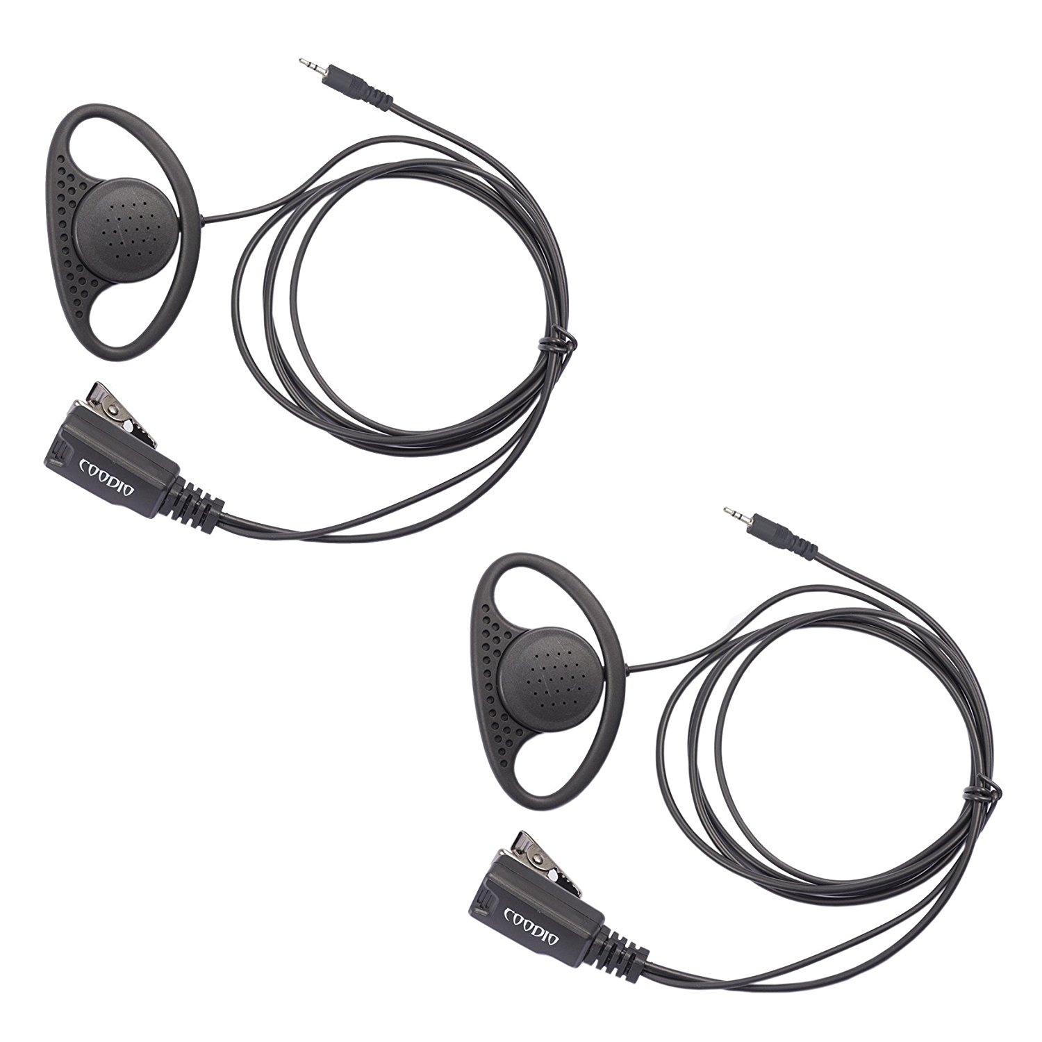 Lot 2 X Coodio Dring Earpiece Police Security Headset Inline Ptt