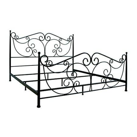 bello b538kdb metal bed frame king dark bronze - Metal Bed Frames King