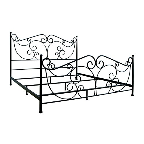 Bell'O B538KDB Metal Bed Frame King, Dark Bronze