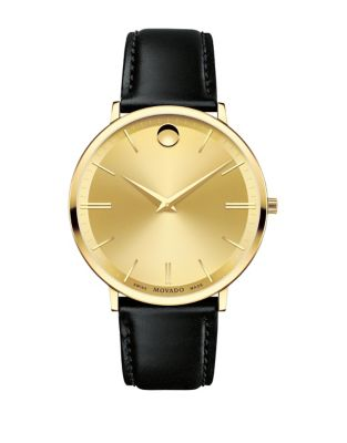 Ultra Slim Leather Mens Watch 0607156
