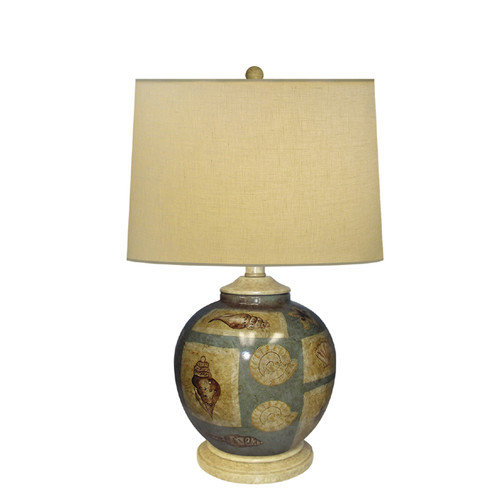 JB Hirsch Home Decor Seashell 24'' H Table Lamp with Empire Shade