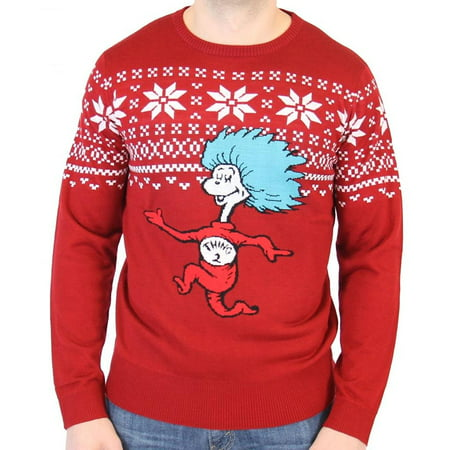 Dr. Seuss Thing 2 Is After You Adult Ugly Christmas Sweater](The Ugly Sweater)