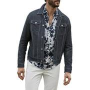 Michael Kors Mens Spring Casual Jean Jacket Blue XL